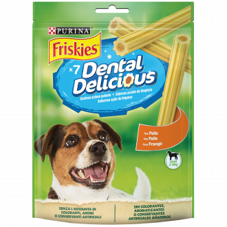 FRISKIES Dental Delicious Snack igiene orale e dentale gusto pollo taglia S