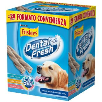 FRISKIES Dental Fresh 3in1 Snack Cane taglia media e grande