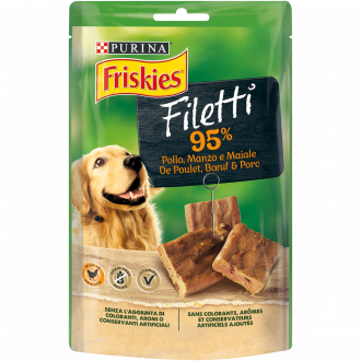 FRISKIES FILETTI Snacks ricchi in pollo