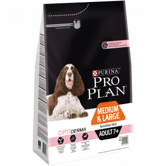 PURINA PRO PLAN Medium&Large Adult 7+ OptiDerma Cane Crocchette