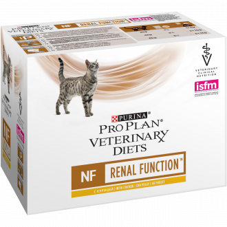 PURINA PRO PLAN VETERINARY DIETS umido gatto NF Renal Function St/Ox in busta con pollo
