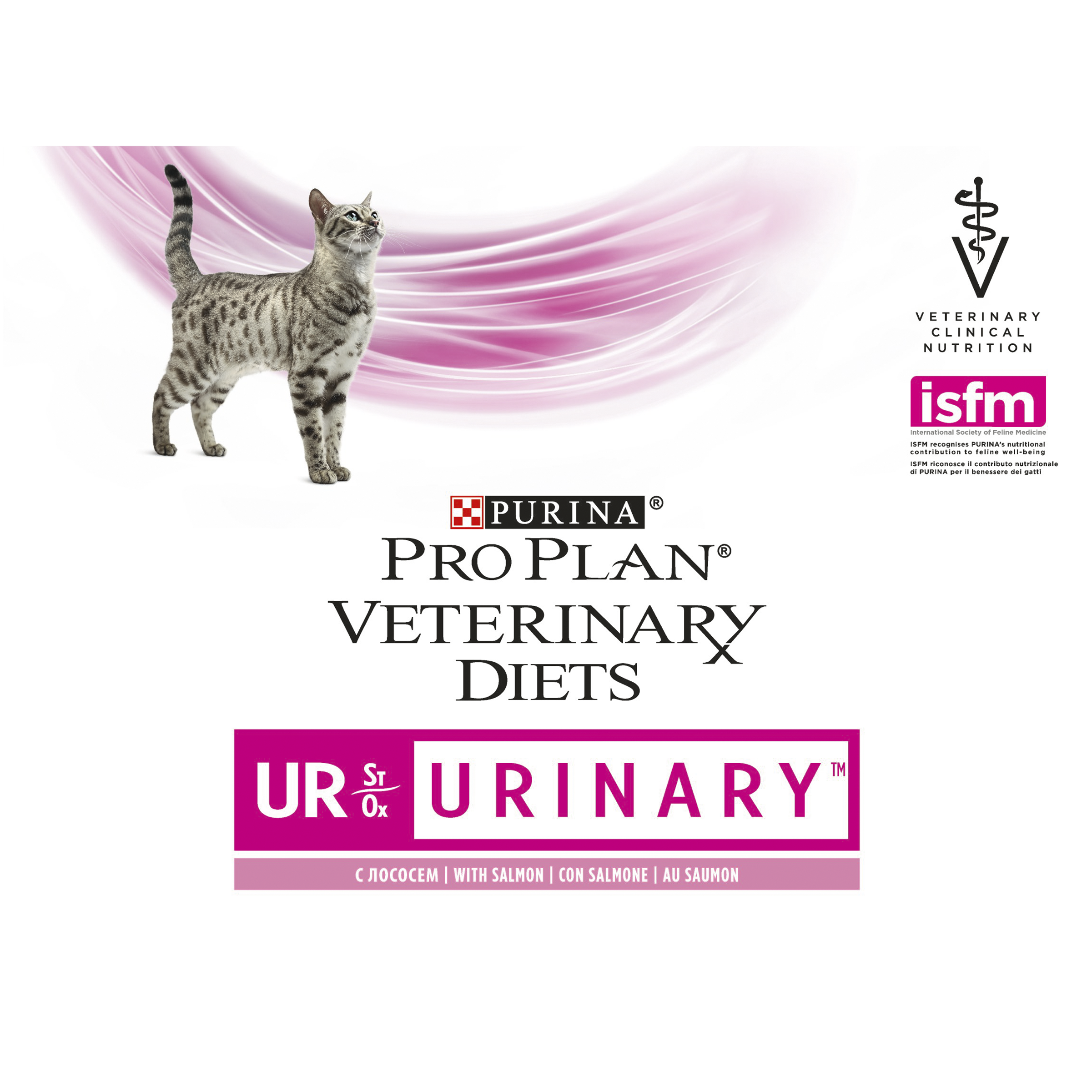 PURINA PRO PLAN VETERINARY DIETS umido gatto UR Urinary StOx con salmone